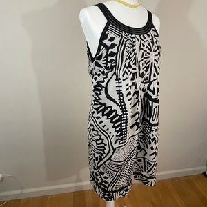 Robbie Bee.  sz 12 dress blac/cream summer style
